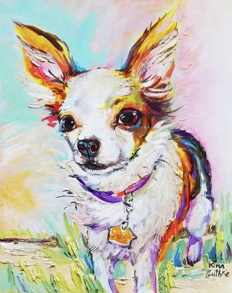 Wall Art - Painting - Dog Portrait Painting Of Chihuahua by Kim Guthrie