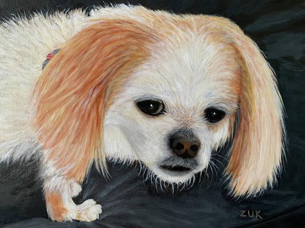 Painting - Dog With Soulful Eyes by Karen Zuk Rosenblatt