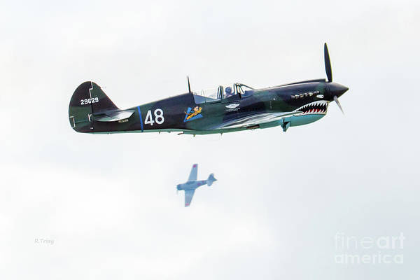 Japanese Zero Photograph - The Dogfight Is On by Rene Triay Photography