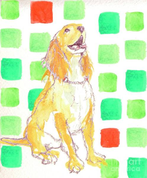 Golden Retriever Mixed Media - Doggy by Anna Platts