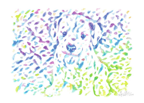 Bugling Drawing - Dog,puppy,pup, Doggie-watercolor,colourful,dazzling,impressionismhandmade,hand-painted,greeting Card by Artto Pan