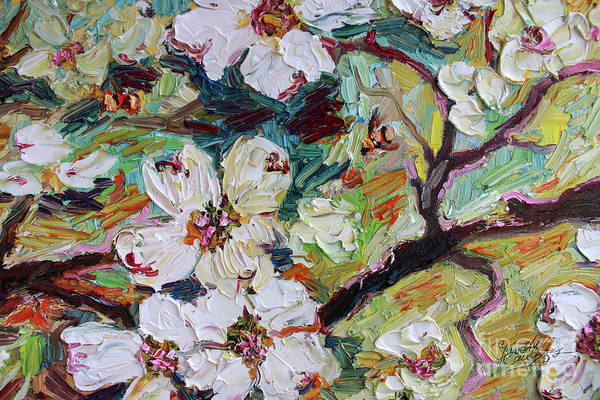 Painting - Dogwood Blossoms Oil Painting  by Ginette Callaway