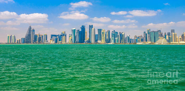 Photograph - Doha Downtown Skyline by Benny Marty