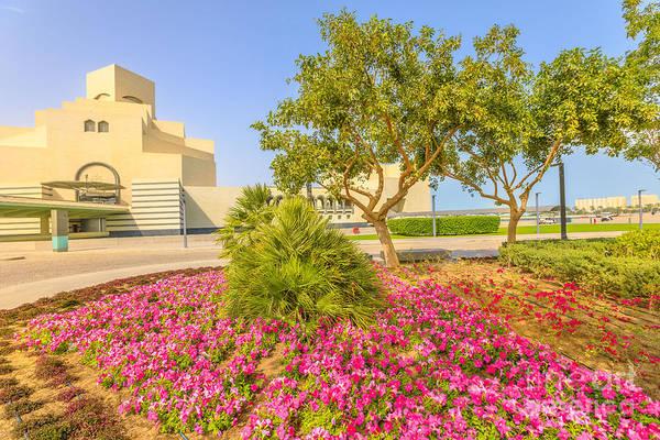 Photograph - Doha Park Along Doha Bay by Benny Marty