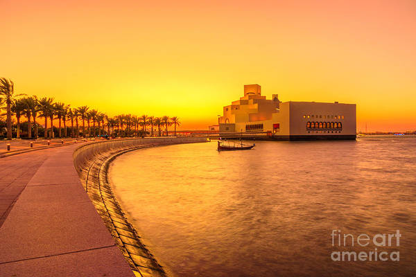 Photograph - Doha Park At Sunset by Benny Marty