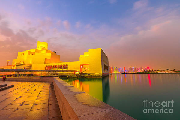 Photograph - Doha Seafront Skyline by Benny Marty