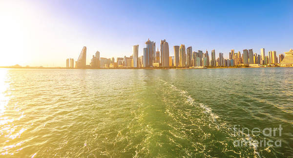 Photograph - Doha Skyline From Boat by Benny Marty