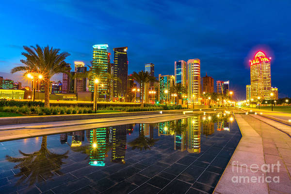 Photograph - Doha West Bay by Benny Marty