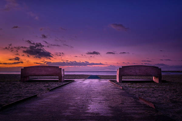 Wall Art - Photograph - Doheny Benches by Lonnie Christopher