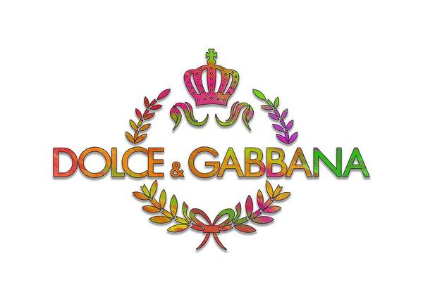 Dolce Wall Art - Digital Art - Dolce And Gabbana Paint Design by Ricky Barnard