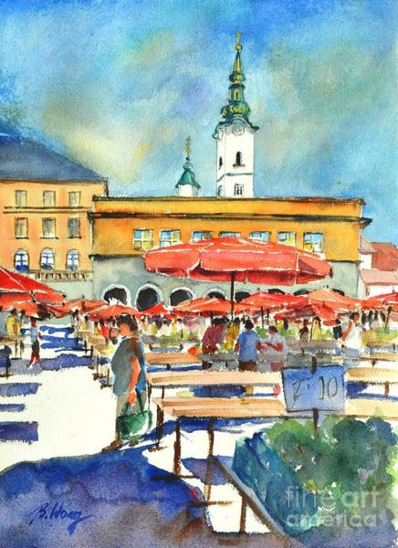 Painting - Dolce Market In Zagreb #1 by Betty M M Wong