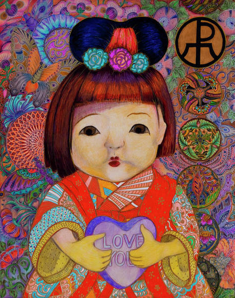 Painting - Doll by Ellie Perla