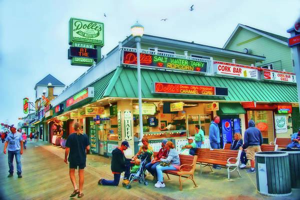 Photograph - Dolle's. Boardwalk, Ocean City, Md by Bill Jonscher