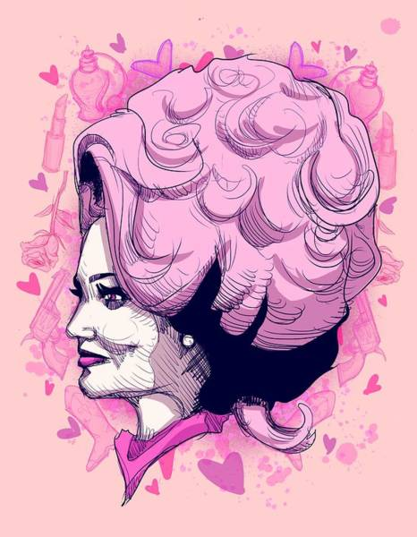 Wall Art - Drawing - Dolly P by Ludwig Van Bacon