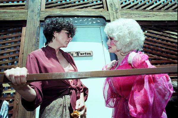 Coliseum Photograph - Dolly Parton And Linda Ronstadt by Richard Mccaffrey