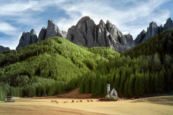 Wall Art - Photograph - Dolomite Church by Jon Glaser
