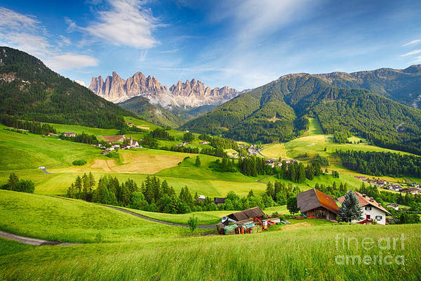 Wall Art - Photograph - Dolomites Alps, Mountain - Val Di Funes by Ttstudio
