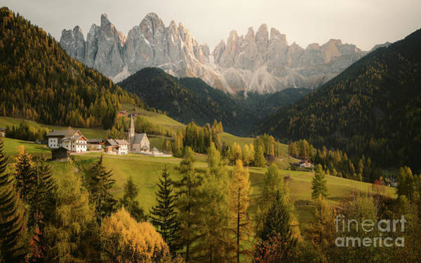 Wall Art - Photograph - Dolomites Gold by JR Photography