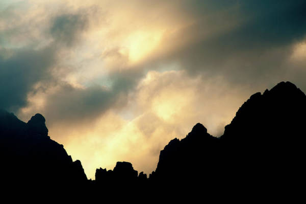 Silhouette Photograph - Dolomites Silhouette by Olaf Broders
