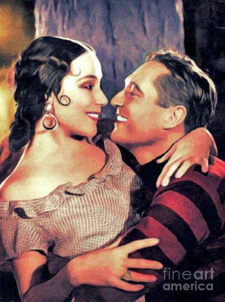 Wall Art - Painting - Dolores Del Rio And Edmund Lowe by John Springfield