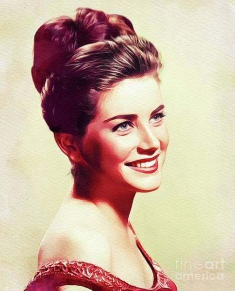 Hart Wall Art - Painting - Dolores Hart, Vintage Actress by John Springfield