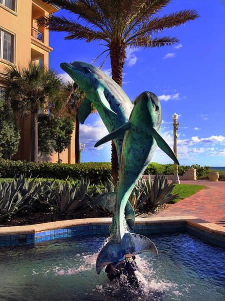 Photograph - Dolphin Fountain by Carlos Diaz