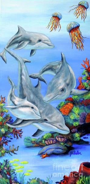 Wall Art - Painting - Dolphin Splendor by JoAnn Wheeler