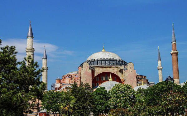 Photograph - Dome And Minarets Of Hagia Sophia by Steve Estvanik