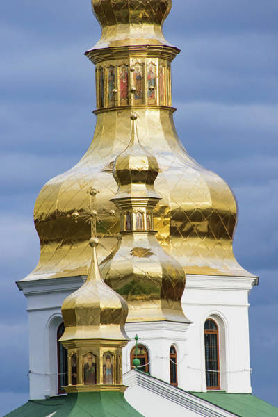Dnieper Photograph - Dome Detail, Pechersk Lavra (monastery by William Sutton