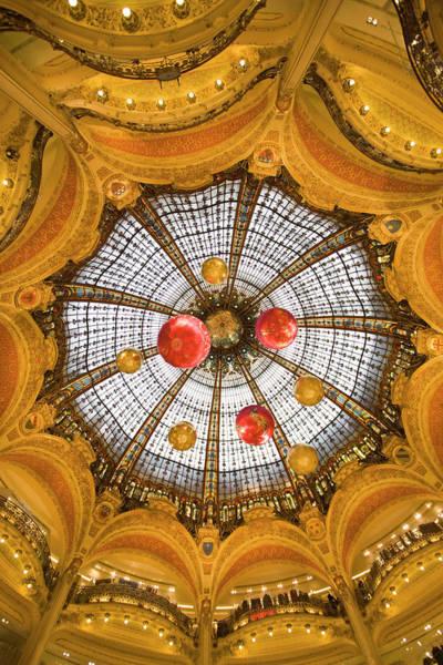 Galeries Lafayette Photograph - Dome Interior, Galeries Lafayette by Danita Delimont