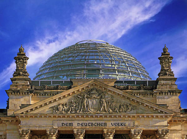 Wall Art - Photograph - Dome Of The Deutscher Bundestag by Miva Stock