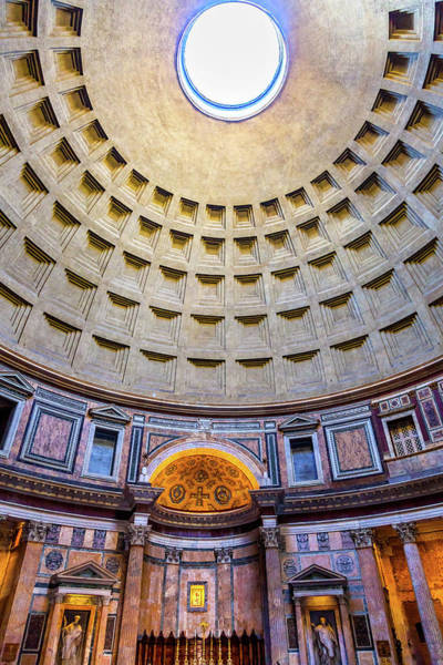 Wall Art - Photograph - Dome, Pillars And Altar, Pantheon by William Perry
