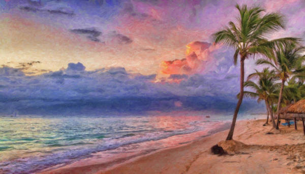 Painting - Dominican Beach - Dwp1236581 by Dean Wittle