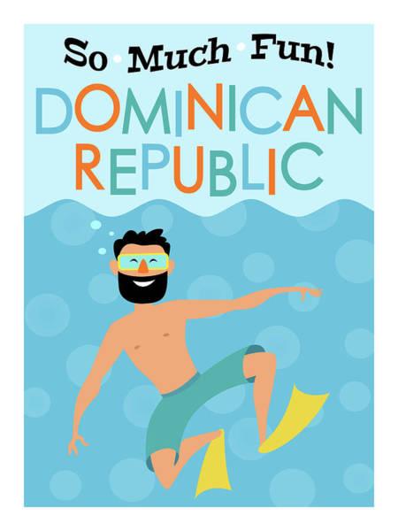 Wall Art - Digital Art - Dominican Republic Fun Hipster Travel by Flo Karp