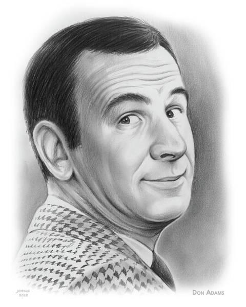 Drawing - Don Adams by Greg Joens