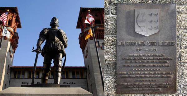 Pedro Menendez Photograph - Don Pedro Menendez Of Aviles Spain Monument St. Augustine by David Lee Thompson
