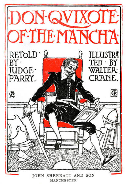 Man Of La Mancha Wall Art - Drawing - Don Quixote Of The Mancha By Walter Crane by Walter Crane