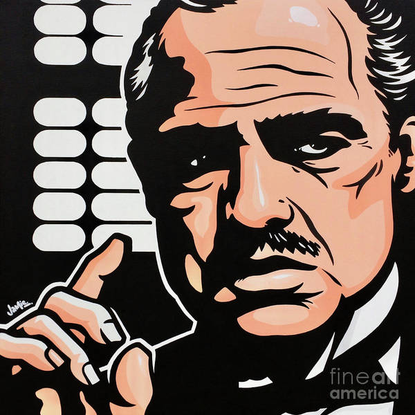 Pop Culture Painting - Don Vito Corleone by James Lee