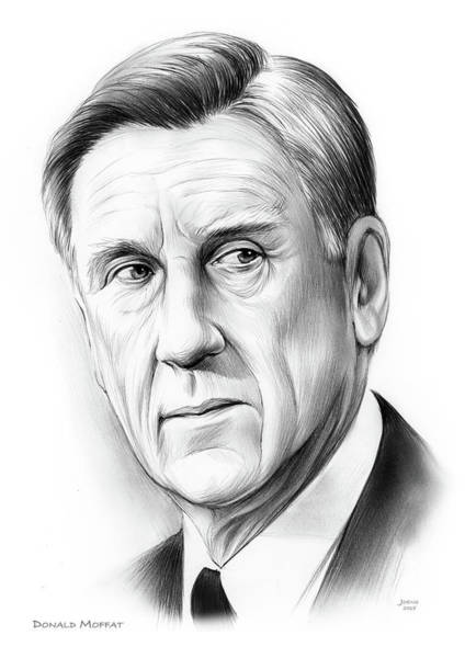 United States Drawing - Donald Moffat by Greg Joens
