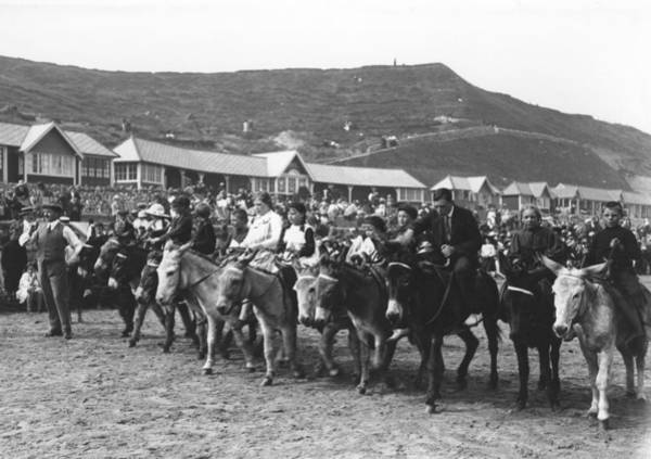 Scarborough Photograph - Donkey Derby by Hulton Collection
