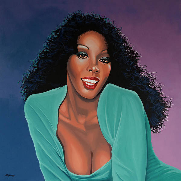 Wall Art - Painting - Donna Summer Painting by Paul Meijering