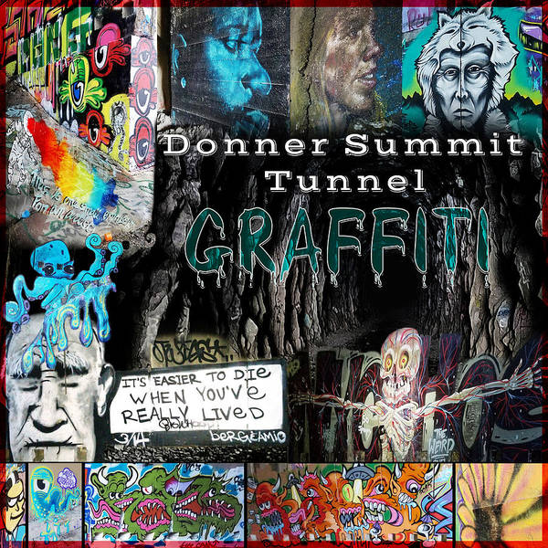 Digital Art - Donner Summit Graffiti by Lisa Redfern