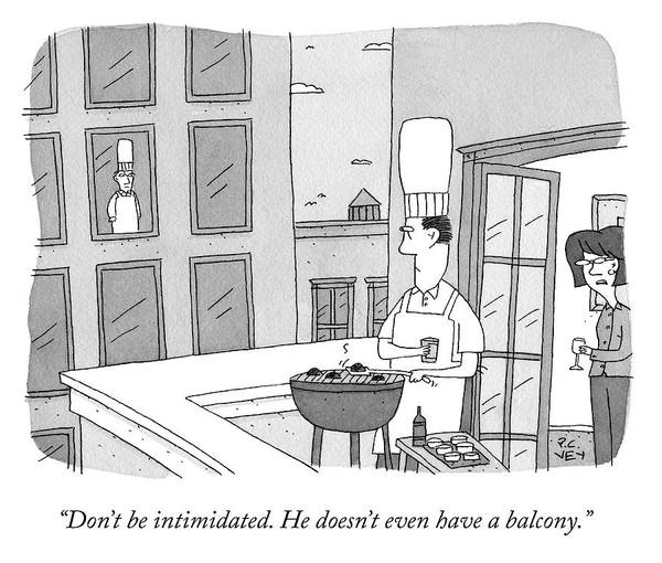 Chefs Drawing - Dont Be Intimidated by Peter C Vey