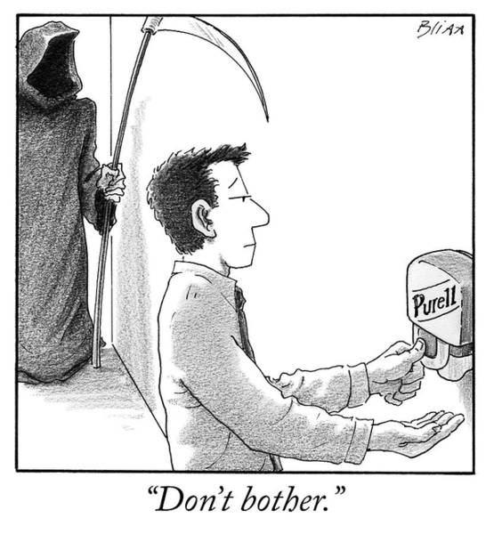 Drawing - Don't Bother by Harry Bliss