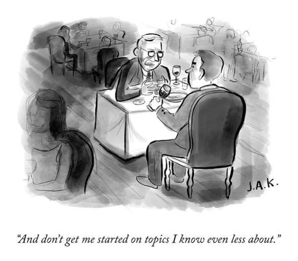 Drawing - Don't Get Me Started by Jason Adam Katzenstein