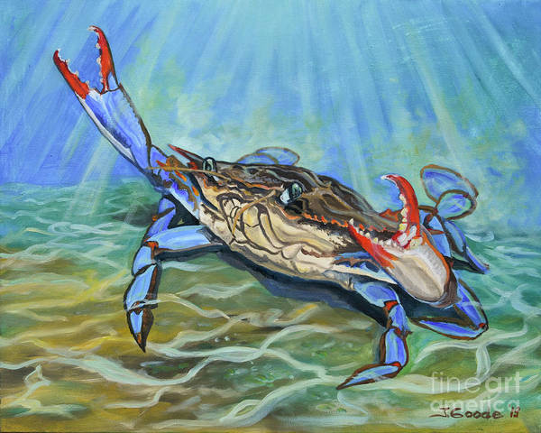 Arthropods Painting - Don't Worry Be Crabby by Jana Goode