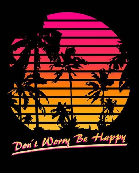 Wall Art - Digital Art - Don't Worry Be Happy by Filip Hellman