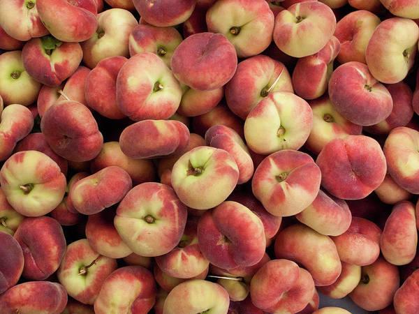 Retail Photograph - Donut Peaches At A Farmers Market by Bill Boch