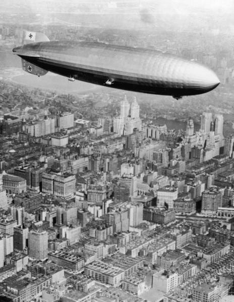 Lakehurst Photograph - Doomed Airship by Hulton Archive