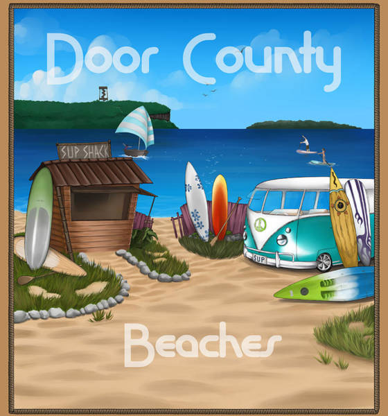 Digital Art - Door County Beaches by Door County Social Creative Team